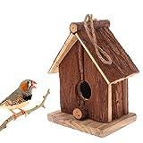 Navigatee Casa De Pájaros De Madera, Artesanía Artes Y Artesanía Retro Casas Rurales Casas De Pájaros, Abeto Chino Pájaro Inclinado Doble Nido Colgante