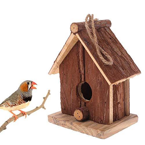 Precauti Casetta per Uccelli in Legno Casetta per Uccelli in Legno Abete Cinese Appendiabiti per Uccelli Inclinato in Legno Casa per Uccelli in Legno per Appendere all'aperto