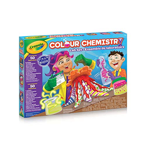 Crayola 04-5176 Colour Chemistry Lab Set, STEAM, Holiday Toys, DIY, Science Projects, Gift for Boys and Girls, Kids, Ages 8, 9, 10 and Up Arts and Craft, Gifting