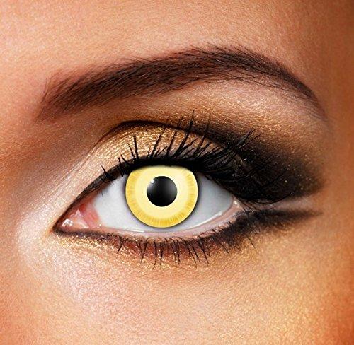 Funky Vision Kontaktlinsen - 3 Monatslinsen, Avatar, Ohne Sehstärke, 1 Stück