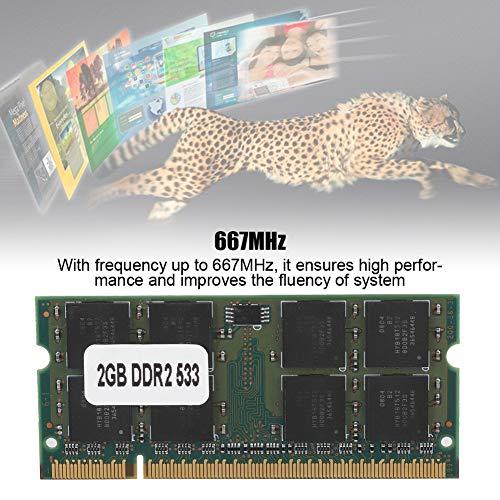 Diydeg RAM DDR2 de operação de alta velocidade, memória DDR2 de 200 pinos 2G, para laptops DDR2 PC2-5300