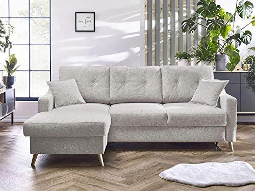 Bobochic - Sweden - canapé d'angle Convertible - avec Coffre - Style scandinave - Gauche