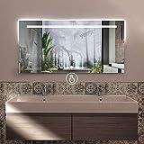 styleglass specchio da bagno rettangolare personalizzabile atena 120 x 60 cm, made in italy, specchio parete com spessore vetro 4mm, kit fissaggio murale incluso, grado di protezione ip20
