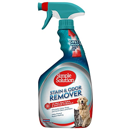 Simple Solution Pet Stain and Odor Remover | Enzymatic Cleaner with 2X Pro-Bacteria Cleaning Power | 32 Ounces