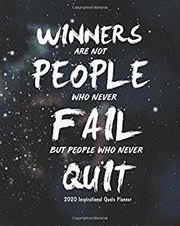 2020 Inspirational Quote Planner: 2020 Weekly Planner Calendar Schedule Organizer and  Journal Notebook With Motivational Quotes, 8x10 inches (Motivational quotes 2020 daily planner Series)