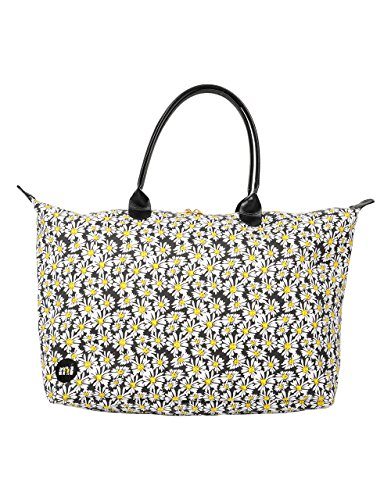 Mi-Pac Womens Weekender Canvas and Beach Tote Bag Daisy Crazy Black