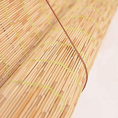 Persianas de Caña Natural,Estores de Bambú,Cortina de Paja,Estores Enrollables Romanas Retro,En Interiores y Exteriores Ventana Persianas Enrollable,Sunshade Partition Curtain (110x220cm/43x87in)
