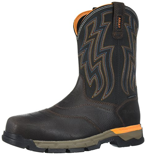 Ariat Work Men's Rebar Flex Western Composite Toe Work Boot, Chocolate Brown, 10 D US