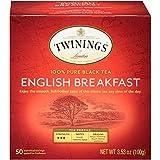 Twinings of London English Breakfast Tea Bags, 50 Count