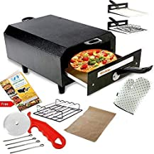 Wellberg Electric Tandoor with Auxiliary Equipment (Black) (14 Inch) 2000wt with pizza cutter, Magic cloths, 1 Grill, 4 Sk...