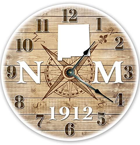 Alfery33red 12 'Nuevo México Establecido 1912 reloj grande 30,5 cm pared pared decoración del hogar Nuevo México