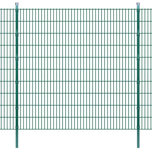 Enjoy your shopping with 2D Garden Fence Panels & Posts 2008x2030 mm 28 m Green
