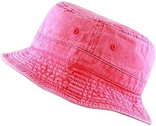 THE HAT DEPOT 300N 100% Cotton Packable Pigment Washed Cotton Bucket Hat 52f1b27d96c6