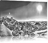Pixxprint Zugspitze im Sonnenlicht als Leinwandbild |