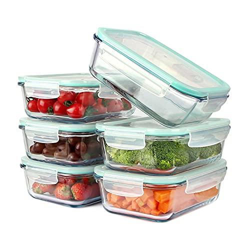 astor24 Glas-Frischhaltedosen-Set 8-teilig mit Dampfventil - Aufbewahrungsbox - Vorratsdosen - Spülmaschinen-, Mikrowellen- und Gefrierschrank geeignet - BPA frei