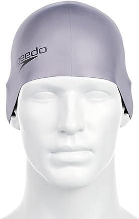 Plain Moulded Senior Silicone Cap - Grey