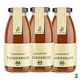 eatPLANTS vegane braune BIO Bratensoße im Glas – 4x 260 ml Gläser dunkle rein pflanzliche Soße...