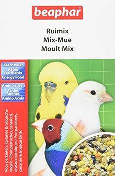 BEAPHAR – Mix-Mue, pâtée fortifiante pour perruche, canari et oiseau exotique – Contient des vitamines, acides aminés et des minéraux – Idéal en période de mue – Pour leur bien-être – 150g