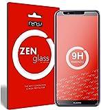 ZenGlass [2Stück Flexible Glas-Folie kompatibel mit Huawei Honor 7c Panzerfolie I Bildschirm-Schutzfolie 9H I (Kleiner ALS Das Gewölbte Bildschirm)