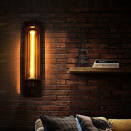 Zantec Vintage Loft/Retro/Industriële wandlamp, metaal, zwart