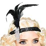 Diadema con plumas estilo años 20, para vestir y disfrazarse