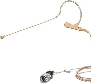 U-Voice UVS70D H4P Detachable Mini Headset Microphone for Audio Technica (Tan Color)