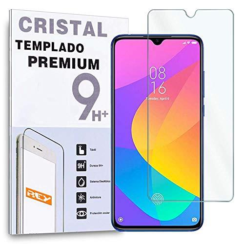 REY Protector de Pantalla para XIAOMI MI 9 Lite - MI 9S - XIAOMI CC9, Cristal Vidrio Templado Premium