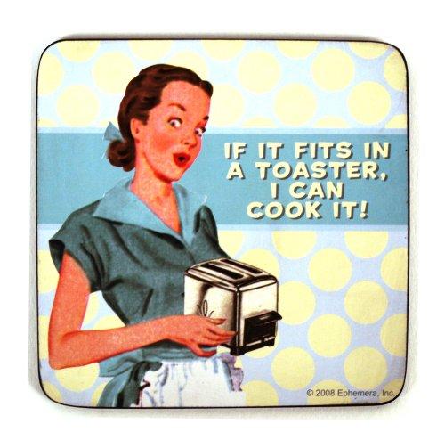 Drinkmat/onderzetter - als het past in een Broodrooster, ik kan het koken.