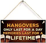 Alcohol Gin Beer Vodka Gift Hanging Home Bar Pub Garden Sign Funny Alcohol Gift 10' X 5'