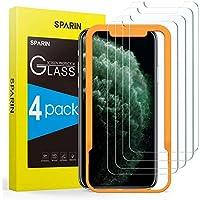 [4-Pack] SPARIN Protector Pantalla iPhone 11 Pro/XS/X, Cristal Templado iPhone 11 Pro/XS/X, Vidrio Templado con [Sin Cobertura Toda Pantalla] [9H Dureza] [Alta Definicion]