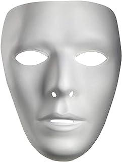 10475 Blank Male Drama Mask, multi-colored, adulto est?ar
