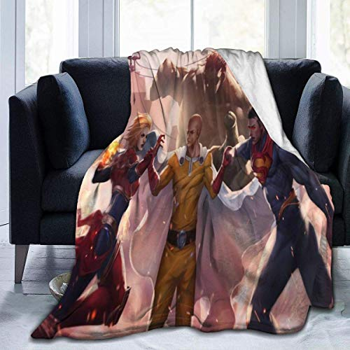 JONINOT Manta De La Siesta Felpa Sofás Franela Cruce de Anime Buen sueño L127cm x W102cm/40 x50