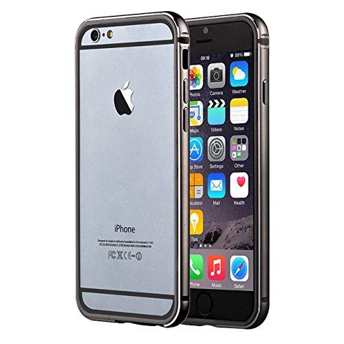 Carcasa Bumper Aluminio para iPhone 6 y 6S Gris