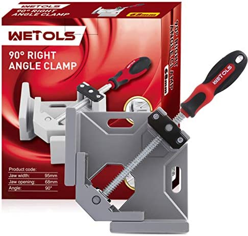 WETOLS Angle Clamp 90 Degree Right Angle Clamp Single Handle Corner Clamp with Adjustable Swing product image