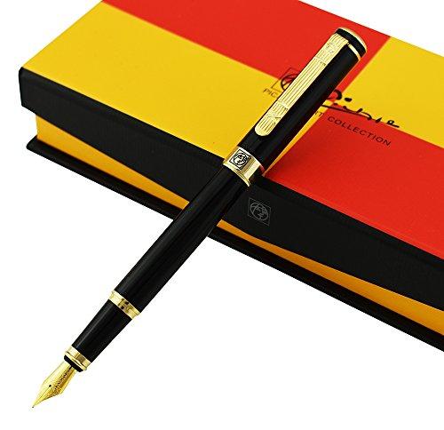 Picasso 902 Gentleman Collection Fountain Pen Medium Nib Point, Awesome Apperance, Vivid Black Collection Signature Pen