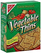 Nabisco Vegetable Thins Baked Snack Crackers - 8 oz