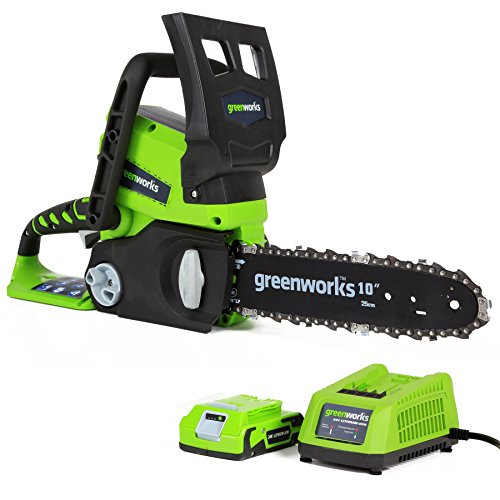 Greenworks 24V accu-kettingzaag 25cm Gereedschap + 1 accu 2 Ah + VDE-oplader. 2000007va