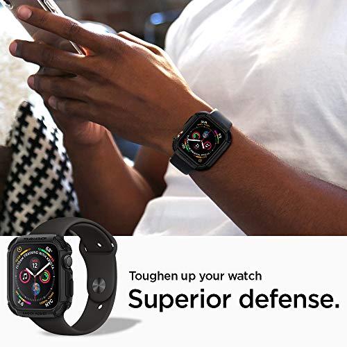 【Spigen】AppleWatch44mmケース【SeriesSE/Series6/Series5/series4対応】米軍MIL規格取得耐衝撃タフ・アーマー062CS24477(ブラック)
