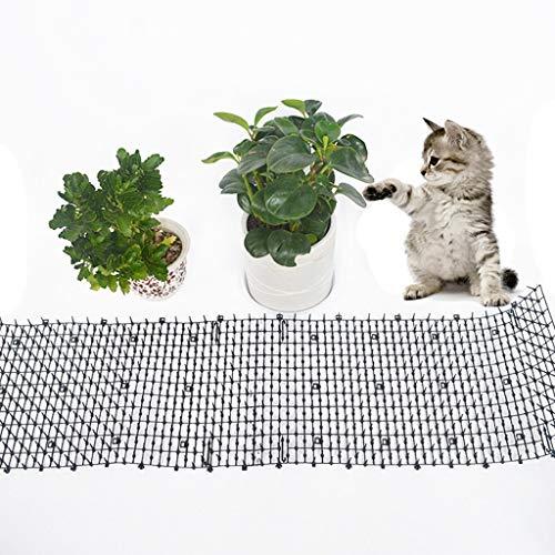 Tiervertreiber Katzenabwehr Marderschutz Katzenschreck Tierschreck, Katzen Tierabwehr Scat Spike Matte Marder Hunde Tierschreck Spikes funktioniert super in Gärten, Höfe, und Pflanzer (Schwarz)