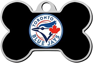 GPZHM Customized Toronto-Blue-Jays Logo Pet Tag - Bone Shaped Dog Tag & Cat Tags Pet ID Tag Personalized Custom Your Pet's Name & Number 3D Printing
