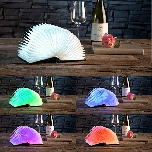 Lunartec Buchlampe: Klappbare LED-Stimmungsleuchte im Buch-Design, 5 Farben, 0,2 Watt (Buchleuchte) - 6