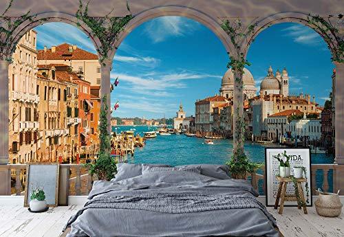 Arches Venedig Italien - Wallsticker Warehouse - Fototapete - Tapete - Fotomural - Mural Wandbild - (1072WM) - XXL - 368cm x 254cm - Papier (KEIN VLIES) - 4 Pieces