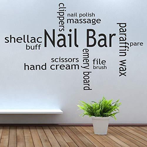 JXMN Esmalte de uñas Vinilo Pared calcomanía Belleza salón de uñas Collage Pared Arte Imagen Pegatina 116x70cm