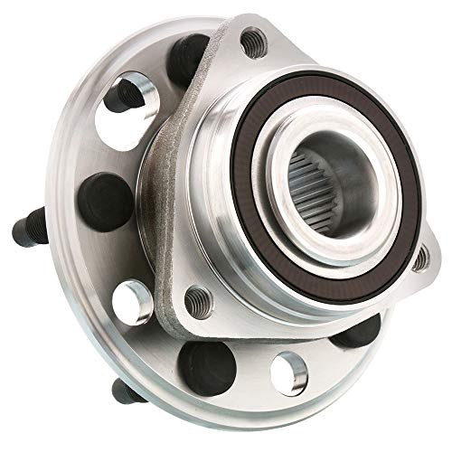 Included with Two Years Warranty Note: Bearing Flange Mounting Holes Non-Threaded FWD 4-Wheel ABS Left and Right - Two Bearings 1996 fits Buick LeSabre Front Wheel Bearing and Hub Assembly