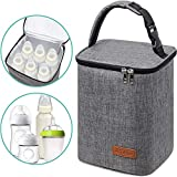 Breastmilk Cooler Bag Insulated Baby Bottle Bag, Reusable Baby Bottle Tote Bag for up to 6...