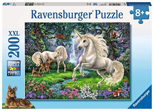 Ravensburger- Puzzle Infantil con diseño de Unicornios, Color Amarillo (128389)