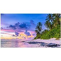 ウォールステッカー ビーチ 海岸 日本製 MU3 海 トワイライト 自然 旅行 写真 ポスター シール アート アクセント壁紙 インスタ