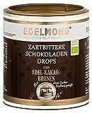 Edelmond Bio Erythrit Zartbitter Schokoladen Perlen. Laktosefrei. Zuckerfrei Erythritol gesüßt.