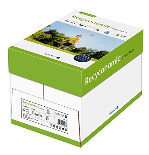 Papyrus 88031811 Recycling-Druckerpapier Recyconomic ClassicWhite, 80g, A4, 5x500 Blatt, CIE-Weiße: 55 (recycling-grau)