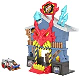 Boom City Racers Fireworks Factory - 3 in 1 transforming playset - Rip, Race, Explode Collectable Toy Car Play Set including 'Da Boss'